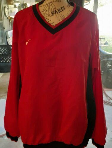 Men's Size Large Nike Red and Black V Neck  Pullov