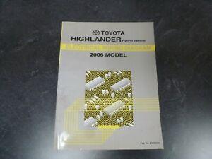 2006 Toyota Highlander Hybrid Electrical Wiring Diagrams Manual Limited V6  AWD   eBayeBay
