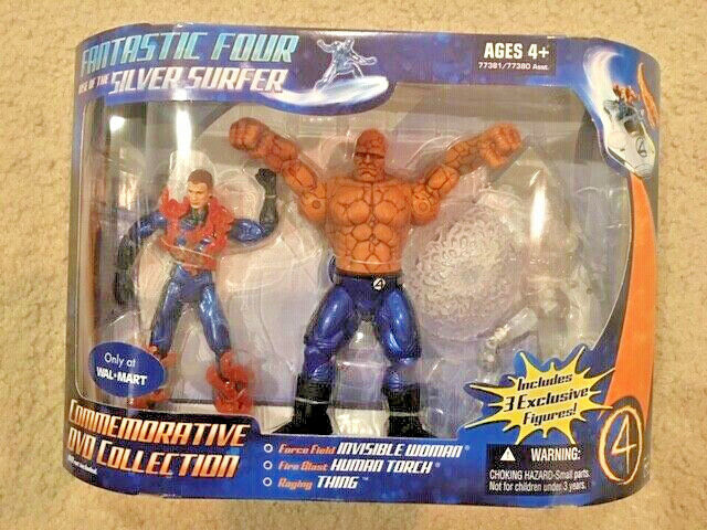 Fantastic Four  INVISIBLE WOMAN. THING. HUMAN TORCH. Wal-mart exclusive Unopened
