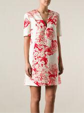 STELLA MCCARTNEY RED CREAM FLORAL SILK DRESS IT36 XS 0 2 UK4 rare