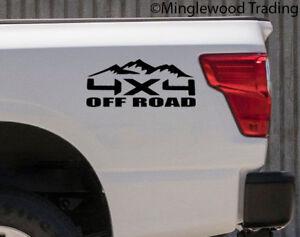 V1-4 by 4 Truck 4 x 4  4WD pair 4X4 OFF ROAD Vinyl Stickers Die Cut Decals