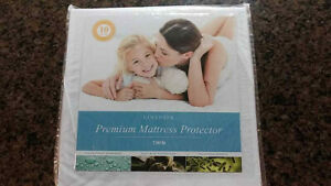 Hypoallerg 100/% Waterproof LINENSPA Premium Smooth Fabric Mattress Protector