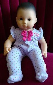 American Girl Bitty Baby Doll Light Skin Dark Brown Hair Brown