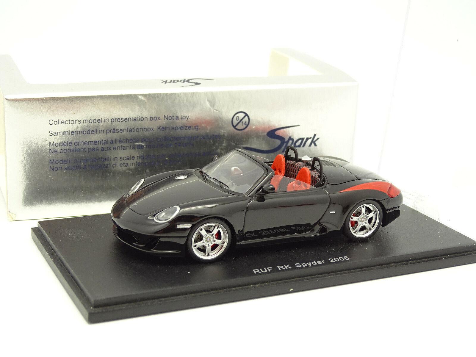 Spark 1 43 - Porsche RUF RK Spyder 2006 Noire