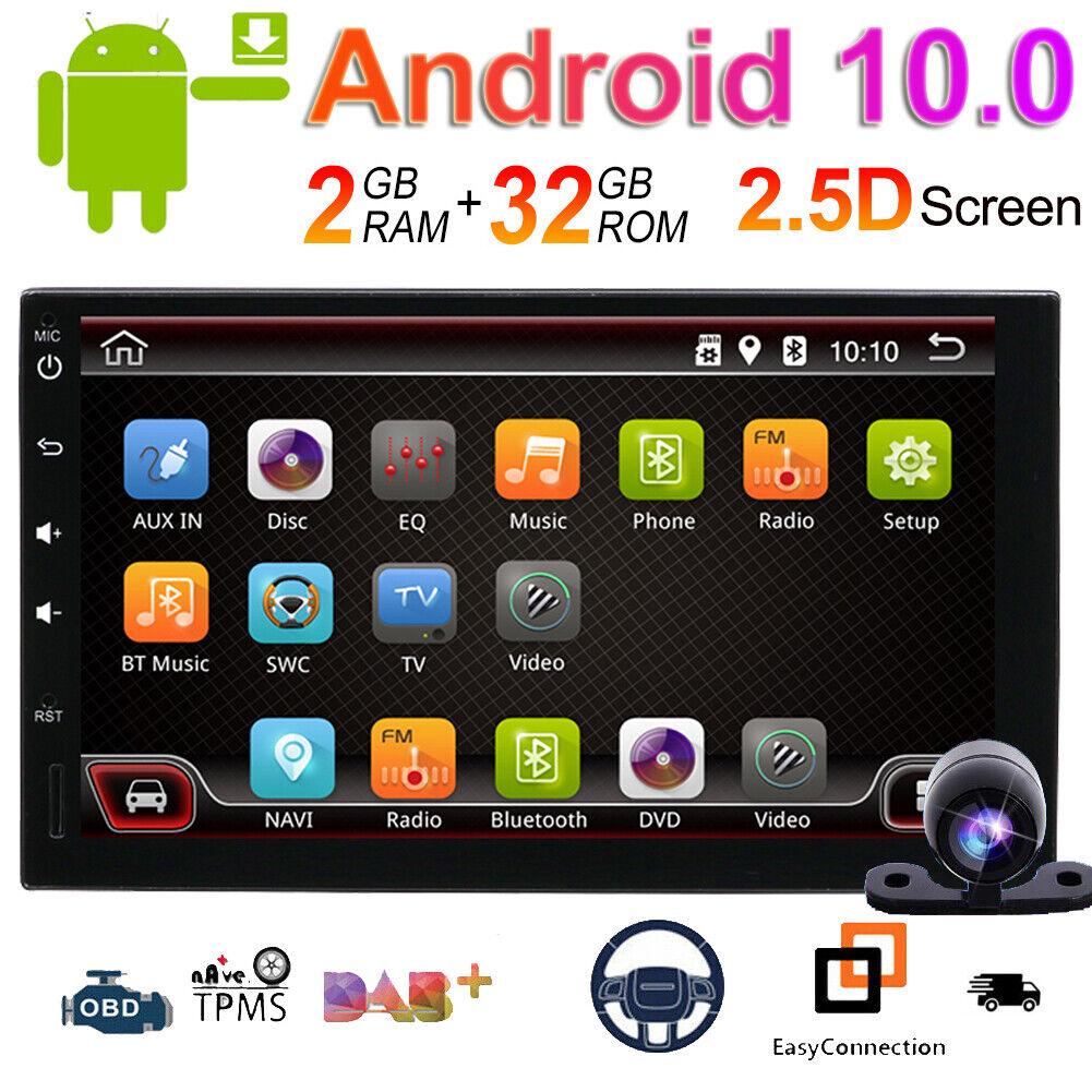 """autoradio: 7"""" HD 2Din Android 10 Autoradio Stereo Player DAB+ Radio GPS Navi Wifi 4G LET"""