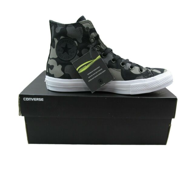 dbe2e40bfd0 Converse Chuck Taylor All Star II Hi Size 8.5 Shoes Charcoal Camo 151157C  New