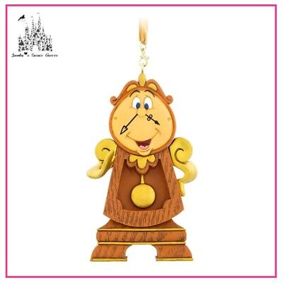 AUTHENTIC DISNEY BEAUTY AND THE BEAST COGSWORTH FIGURAL CHRISTMAS ORNAMENT