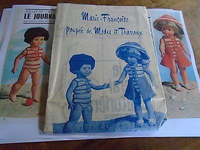 """T7 PATRON POUPEE MARIE  FRANCOISE  MODES ET TRAVAUX/"""" COSTUME D/'INDIENNE  1970"""