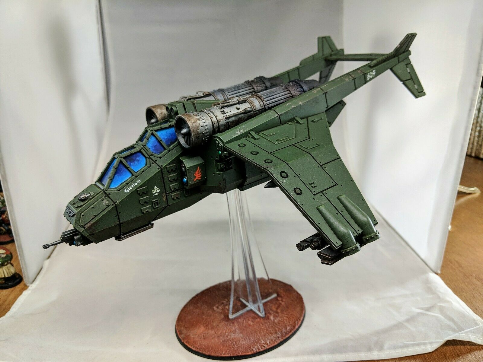 Warhammer 40k-Astra Militarum Valkyrie-pintado y magnetizado magnetizado magnetizado  Felices compras