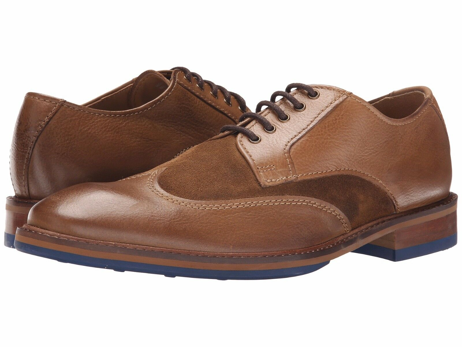 Men's shoes Kenneth Cole Move-Ment Suede Lace Up Oxford SMF5LE055 Brown New