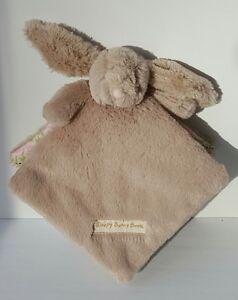 Little Jellycat Sleepy Bunny Book Brown Soft Plush Baby Rabbit