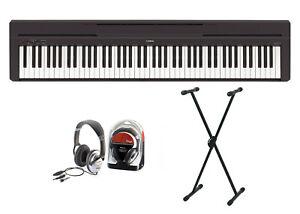 Yamaha-P-45-Digitalpiano-Bundle-V-mit-X-Staender-und-Kopfhoerer
