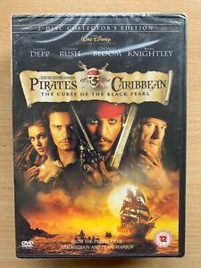 PIRATES-OF-THE-CARIBBEAN-CURSE-OF-THE-BLACK-PEARL-Walt-Disney-2-Disc-DVD-BNIB