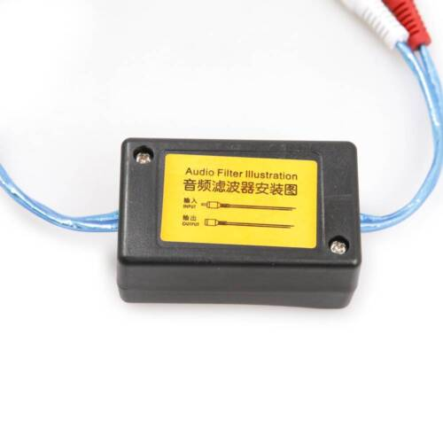 HKATOPS 3.5mm RCA Ground Loop Isolator Audio Stereo Hum Noise Filter Audio Jack