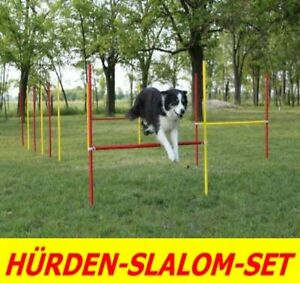 Agility Exercise Bar / Slalom Set En Rouge / Jaune - Original Wuzzmann