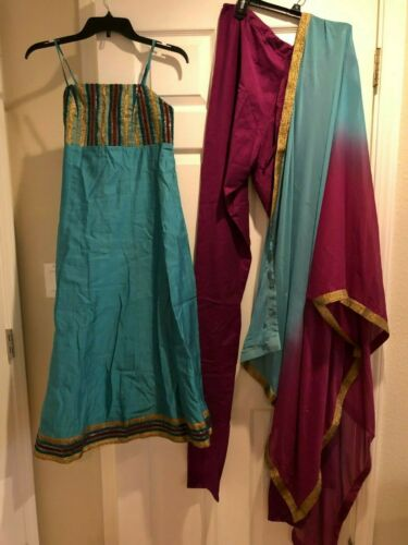 spaghetti strap indian suit