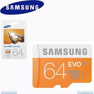 Microsd-64gb-48mb-s-Classe-10-Originale-Samsung-Memoria-EVO-UHS-1-Micro-sd-Card
