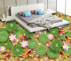 3D Lotus leaf pink 7896 Floor WallPaper Murals Wall Print Decal 5D AJ WALLPAPER