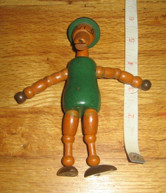 jointed wood figure 1930s Jaymar Jester