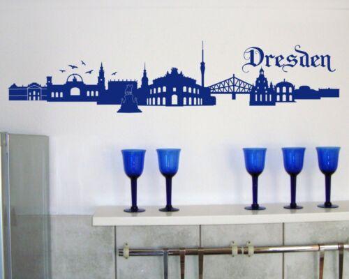Samunshi Wandtattoo Dresden Skyline Stadt 135cm Wandtatoo