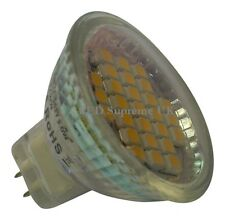 MR11 27 SMD LED 12V 10-30V DC 140LM 2W White Bulb with Glass Cover ~25W