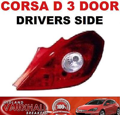 VAUXHALL CORSA E 5 DOOR NEW BACK REAR LAMP LIGHT DRIVERS OFF SIDE CLUB LIFE CDTI