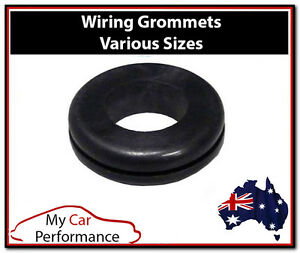 Details about Rubber Wiring Grommets - Cable Wire Open Hole Ring Electrical on