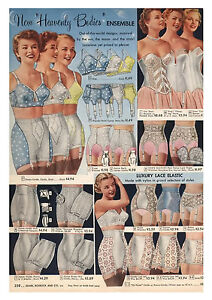 a1775a40ede63 Image is loading Poster-Art-Vintage-Lingerie-Advertisment-from-Sears-etc-