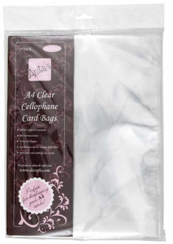 Anita/'s Cellophane Card Bags A4 25 Pack ANT 1651004