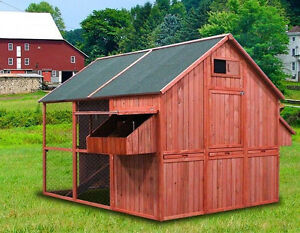 "Walk In Chicken House new 98"" wood walk-in chicken coop nesting box hen house chick"