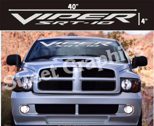 VIPER SRT-10 TRUCK WINDSHIELD VINYL DECAL STICKER