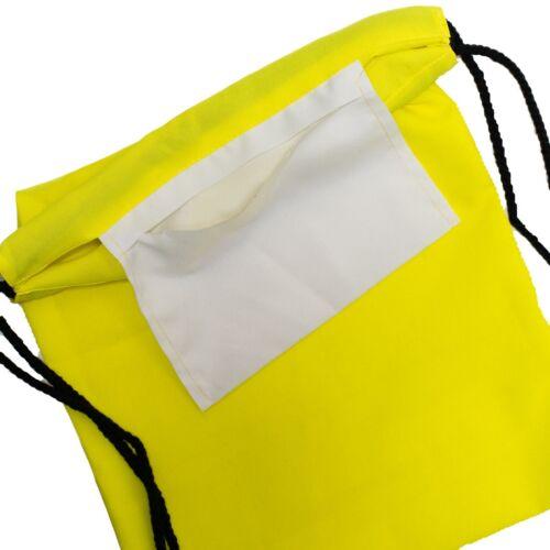 Turnbeutel Gymbag unifarbener Sportbeutel Neonfarben Sporttasche einfarbig Neu