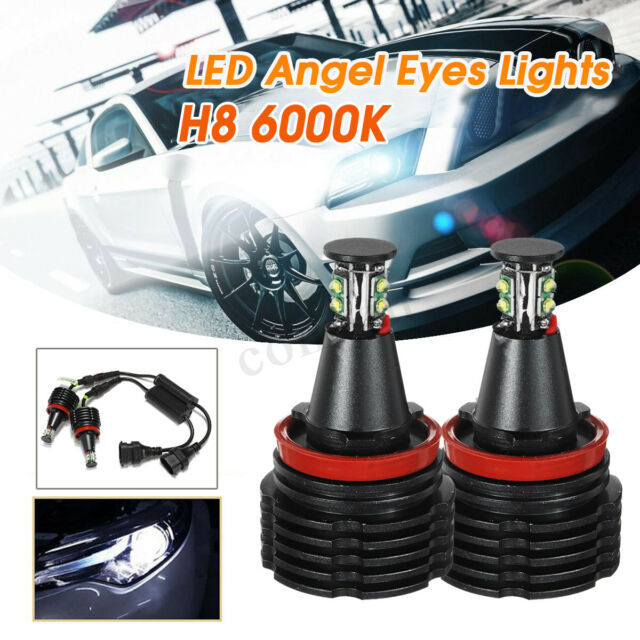 * BMW 10W CREE X5 E70 X6 Angel Eyes H8 LED Marker Bulb RINGS XENON WHITE DIPPED