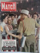 Paris Match n°279- 1954 - R. Cartier après Genève la manoeuvre de Malenkov