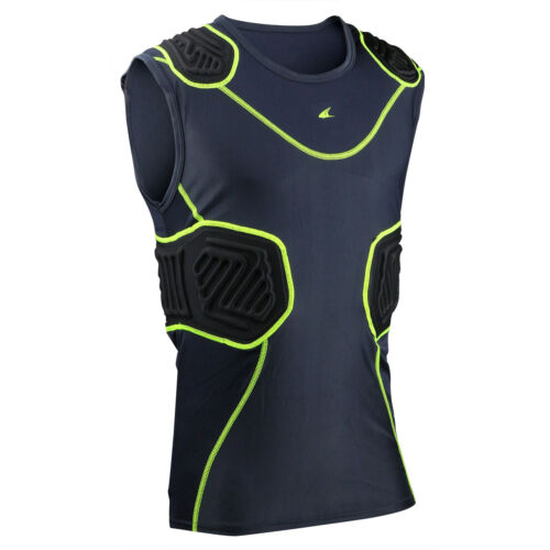 Champro Bull-Rush Compression Shirt Fit Padded Football with Pads YOUTH