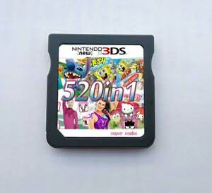 Details about 520 Games in 1 NDS Game Pack Card Super Combo Cartridge for  DS 2DS New 3DS XL