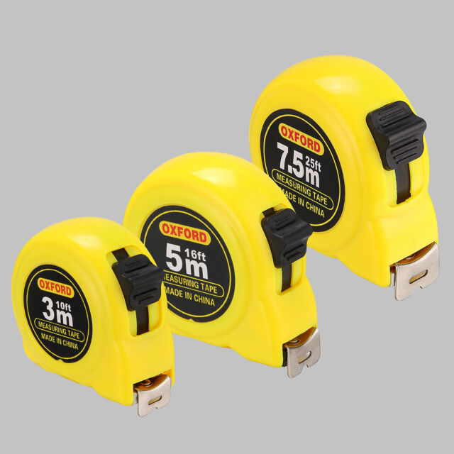 7.5M 3M 10M RETRACTABLE METAL TAPE MEASURE POWER GRIPLOCK METRIC IMPERIAL 5M