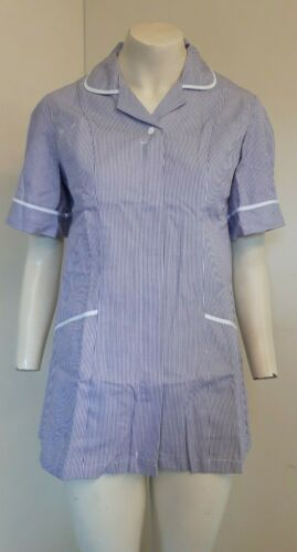 2 x Queen Eleanor Lilac White Stripe Healthcare Tunic Sizes 8,10,12,18,20,22