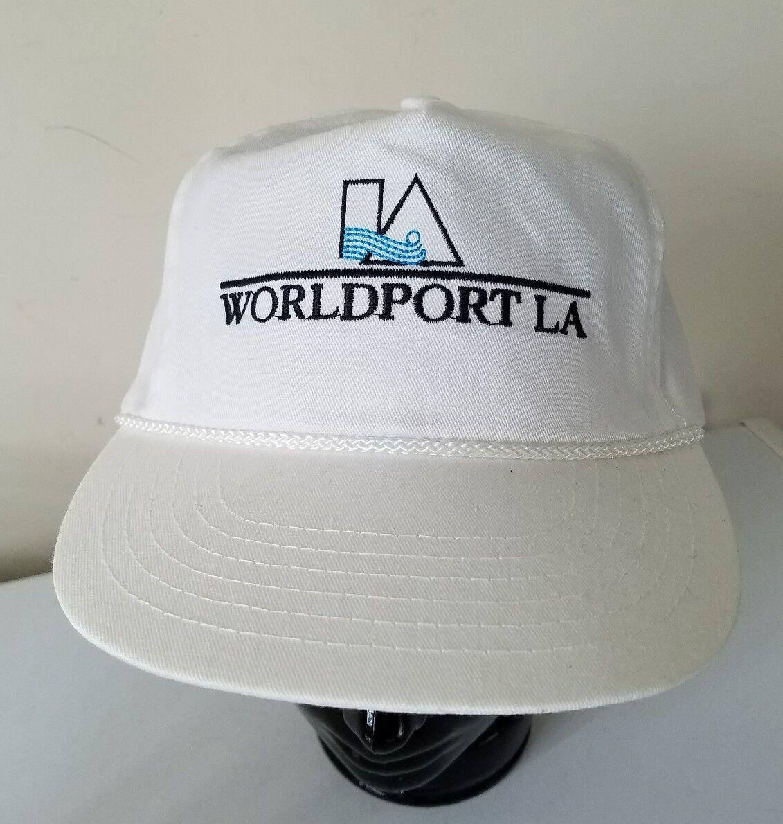 Worldport Embroidered LA Los Angeles Vintage Embroidered Worldport Logo Snapback Baseball Hat Cap 65c02e