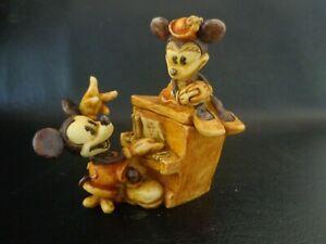 Vintage 2002 Harmony Kingdom Mickey & Minnie 75 Years Together Piano Player