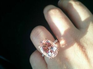 3Ct-14K-Rose-Gold-Over-Oval-Cut-Peach-Morganite-amp-Diamond-Engagement-Ring
