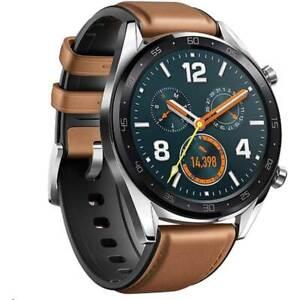 Smartwatch-Huawei-Watch-GT-classic-brown-leather-band-Garanzia-EU-NUOVO