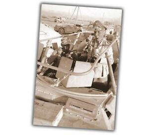 War-Photo-Desert-Fox-Erwin-Rommel-breakfasts-ww2-Glossy-Size-034-4-x-6-034-inch