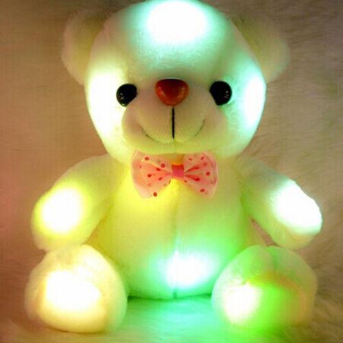 20cm LED Light Teddy Bear Kid Stuffed Plush Toys Lovely Baby Dolls Birthday Gift