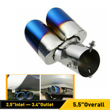 Blue Stainless Steel Rear Ovel Exhaust Pipes Tail Muffler Tip Car Parts Durable Fits Jeep Wrangler Unlimited