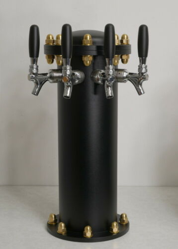 NEW Draft Beer Tower Hydrant 4 Lines Air Cooled Commercial