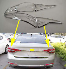 Chrome Rear Tail Light Lamp Cover Trim for 2015-2017 Hyundai Sonata MK9 new