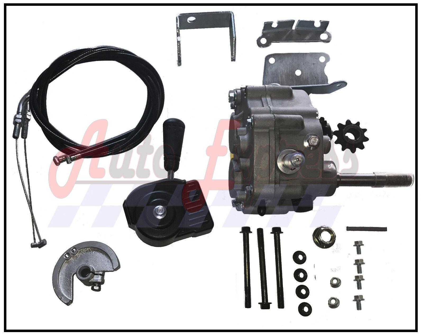 Universal Go Kart Forward Reverse Gear Box For 3 4  TAV2 30 40 41 12T 10T