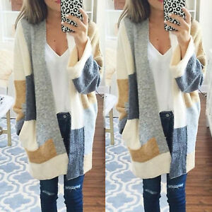 Womens-Jumper-Top-Baggy-Warm-Cardigan-Coat-Long-Chunky-Knitted-Oversized-Sweater