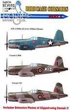 EagleCals Decals 1/72 VOUGHT F4U-1 BIRDCAGE CORSAIR Fighters Part 3